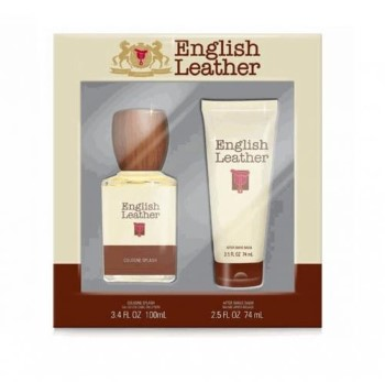 English Leather by Dana for Men Set Includes: English Leather Cologne 3.4 oz + English Leather After Shave Balm 2.5 oz