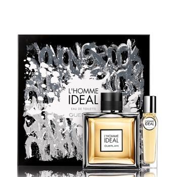 L'Homme Ideal by Guerlain for Men Set Includes: Eau de Toilette Spray 3.3 oz + Eau de Toilette Spray 0.5 oz