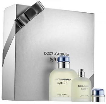 Light Blue Pour Homme by Dolce & Gabbana for Men Set Includes: Eau de Toilette Spray 4.2 oz + Eau de Toilette Spray 1.3 oz