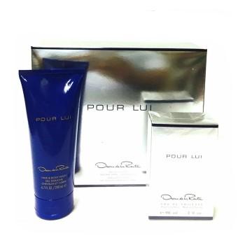 Oscar Pour Lui by Oscar De La Renta for Men Set Includes: Eau de Toilette Spray 3.0 oz + Body Wash Gel 6.7 oz