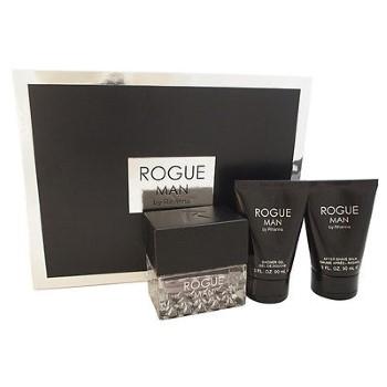 Rogue Man By Rihanna by Rihanna for Men Set Includes: Eau de Toilette Spray 3.4 oz + After Shave Balm 3.0 oz + Shower Gel 3.0 oz