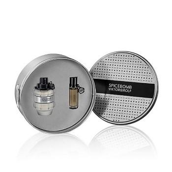 Spicebomb by Viktor & Rolph Gift for Men Set Includes: Eau de Toilette Spray 3.0 oz + Eau de Toilette Spray 0.68 oz