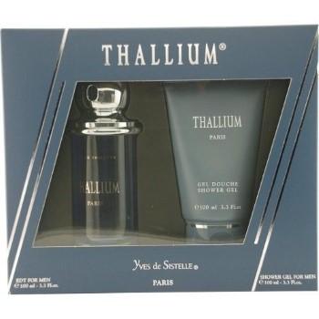 Thallium by Yves De Sistelle for Men Set Includes: Eau de Toilette Spray 3.4 oz + Shower Gel 3.3 oz