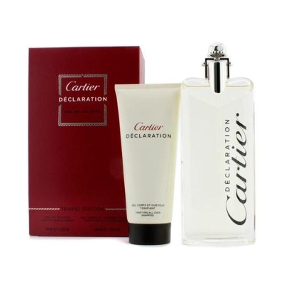 Declaration by Cartier for Men 2 Piece Set Includes: 3.3 oz Eau de Toilette Spray + 3.3 oz  All Over Shampoo