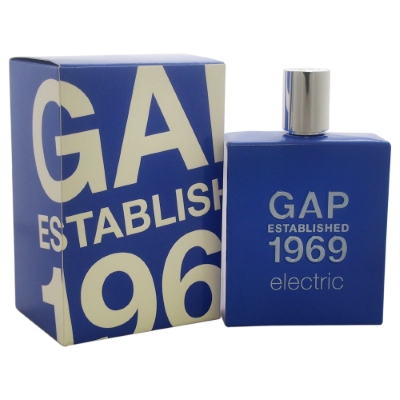 Gap Established 1969 Electric by Gap for Men Eau de Toilette Spray 3.4 oz