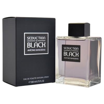 Seduction in Black by Antonio Banderas for Men Eau de Toilette Spray 6.75 oz
