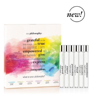 Philosophy by Philosophy for Women 6 Piece Rollerball Set Includes: Truthful, Giving, Grateful, Expressive, Empowered, Compassionate (all Eau de Parfum 0.33 oz)